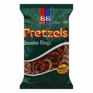 BB Sesame Rings Pretzels, 7.1 OZ (Pack of 24)