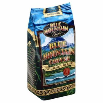 Blue Mountain Gold Gourmet Blend Whole Bean Blue Mountain Coffee, 10 Oz (Pack of 6)