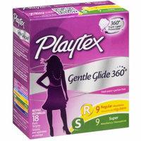 Playtex Gentle Glide Tampons Multipack, Fresh Scent Regular/Super Absorbency, 18 CT (Pack of 6)