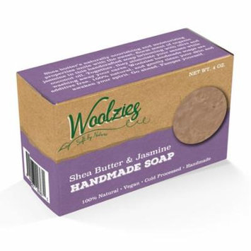 Woolzies 100% Natural Soap Bar, Jasmine & Shea butter, 4 Oz