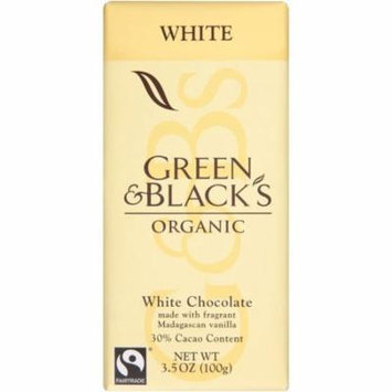 Green & Black's Organic White Chocolate 3.5 Oz Bar (Pack of 10)
