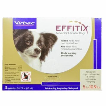Effitix Flea & Tick Topical Solution for Dogs [5-10.9lb] (3 count)