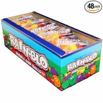 12 PACKS : RAINBLO BUBBLE GUM BALLS 0.53 oz Each