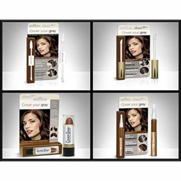 Cover Your Roots Hair Touchup Megapack - 4 Piece Set - Dark Brown