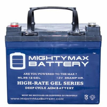 12V 35AH GEL Replacement Battery for MK MU-1SLD NUT AND TERMINALS