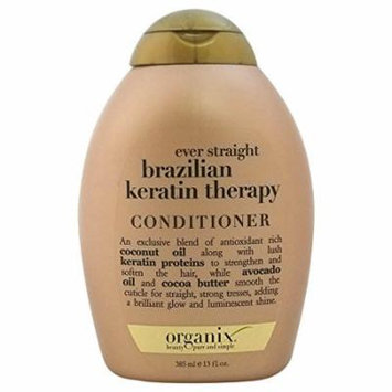 3 Pack Organix Ever Straight Brazilian Keratin Therapy Conditioner 13 Oz Each