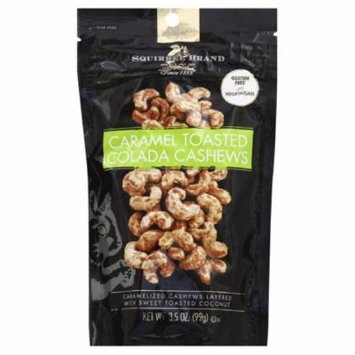 Squirrel Brand Caramel Toasted Colada Cashews, 3.5 Oz (Pack of 6)