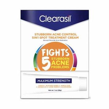 2 Pack Clearasil Stubborn Acne Control 5 In 1 Spot Treatment Cream 1 Oz