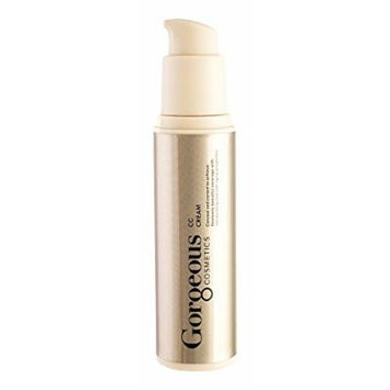 Gorgeous Cosmetics CC Cream, Colour Correcting Cream Containing Brazillian Natural Clays, Sheer and Weightless Formula, 1floz/30ml Airless Pump Bottle Shade 3N