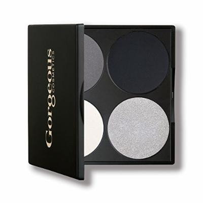 Gorgeous Cosmetics Hollywood Smokey Eyes Palette, 4 shades, Compact with Mirror