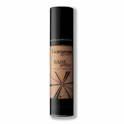 Gorgeous Cosmetics Base Perfect Liquid Foundation, Oil Free, Silicon Based With Vitamin A and E, High Pigment and Buildable for Medium Coverage, Airless Pump Bottle, 1 Fluid Ounce/30ml, Shade 9W