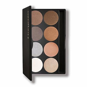 Gorgeous Cosmetics Ever Metallic Eyeshadow Palette, 8 shades, Compact with Mirror