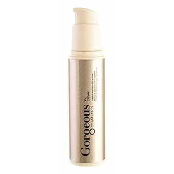 Gorgeous Cosmetics CC Cream, Colour Correcting Cream Containing Brazillian Natural Clays, Sheer and Weightless Formula, 1floz/30ml Airless Pump Bottle Shade 2D