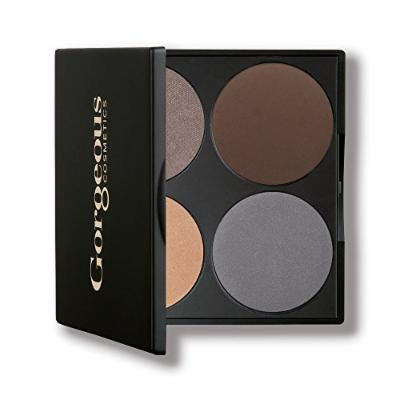 Gorgeous Cosmetics All-In-One Eye Palette, Brown Eyes, 4 shades, Compact with Mirror