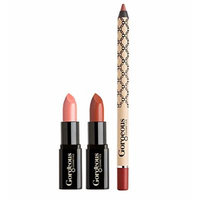 Gorgeous Cosmetics Nude Essentials Makeup Kit, Lips, Contains 2 Lipsticks and 1 Lip Pencil