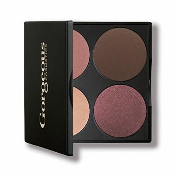 Gorgeous Cosmetics Romance Smokey Eyes Palette, 4 shades, Compact with Mirror
