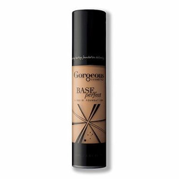 Gorgeous Cosmetics Base Perfect Liquid Foundation, Oil Free, Silicon Based With Vitamin A and E, High Pigment and Buildable for Medium Coverage, Airless Pump Bottle, 1 Fluid Ounce/30ml, Shade 7W