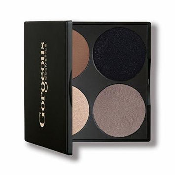 Gorgeous Cosmetics Noir Smokey Eyes Palette, 4 shades, Compact with Mirror