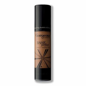 Gorgeous Cosmetics Base Perfect Liquid Foundation, Oil Free, Silicon Based With Vitamin A and E, High Pigment and Buildable for Medium Coverage, Airless Pump Bottle, 1 Fluid Ounce/30ml, Shade 14W