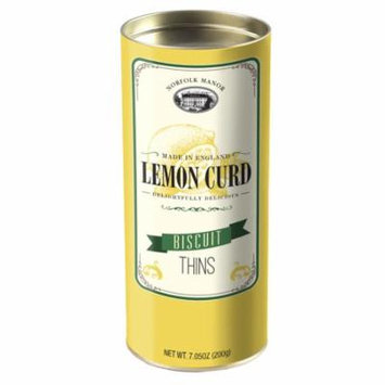 Norfolk Manor Lemon Curd Biscuit Thins, Tube, 7.05oz (200g)