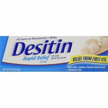 2 Pack - Desitin Rapid Relief Creamy Diaper Rash Ointment - 4 oz Each