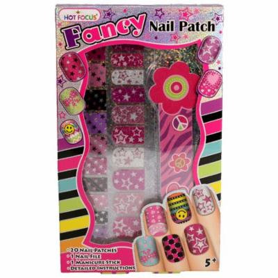 Fancy Nail Patches, Nail File, and Manicure Stick - Stars
