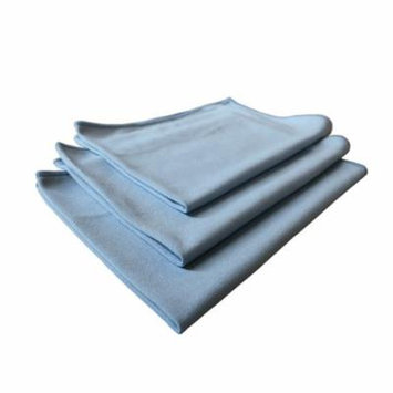 Real Clean 16x16 Premium Microfiber Blue Window Glass Cleaning Towel Cloths for Home Auto Office Electronics Streak Free and No Lint Left Behind