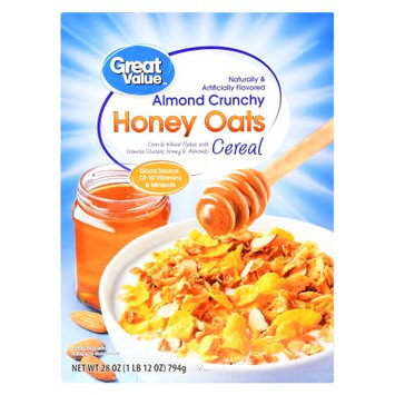 Great Value Almond Crunchy Honey Oats Cereal