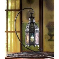Zingz & Thingz Moroccan Rainbow Iron and G lass Lantern