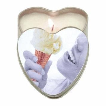 Earthly Body Suntouched Hemp Edible Candle - 4.7 oz Heart Tin Vanilla Ice Cream