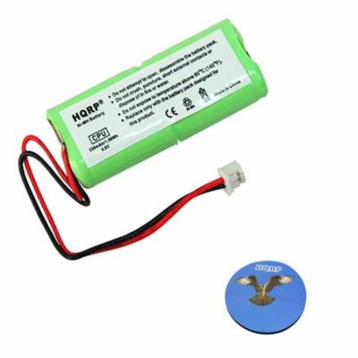 HQRP Battery for Dogtra 2000-T&B Series 2002-T&B Remote Controlled Dog Training Collar Receiver + HQRP Coaster
