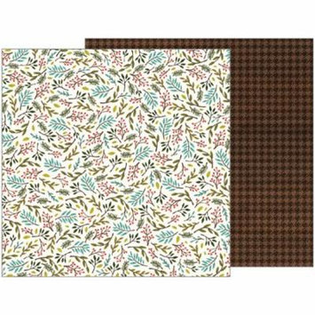 American Craft Pebbles Warm And Cozy Collection 12 X 12 Double Sided Paper Sprigs