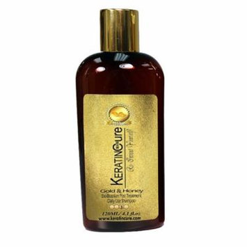 Keratin Cure Gold and Honey Botanical for keratin treated hair Complex Daily Shampoo 120 ml 4 fl oz Travel Size