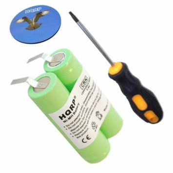 HQRP Battery fits Philips Norelco 4625X 4805XL 4807XL 4816XL 4817XL 4821XL Razor / Shaver plus Screwdriver and Coaster