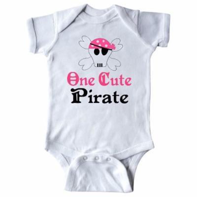 Girls Cute Pirate Infant Creeper