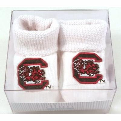 Future Tailgater South Carolina Gamecocks Boxed Newborn Baby Booties