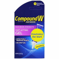 4 Pack Compound W Maximum Strength Wart Remover Fast Acting Gel 0.25 OZ