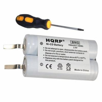 HQRP Battery for Philips Norelco 4825XL 4845XL 4852XL 4853XL 4865X 4865XL Razor / Shaver plus Screwdriver and Coaster