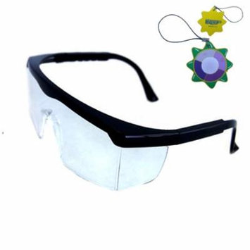 HQRP UV Protecting Safety Glasses for Laser Hair Remover system, Ultraviolet Nail Curing Lamps Nail Dryer Eye Protection + HQRP UV Meter
