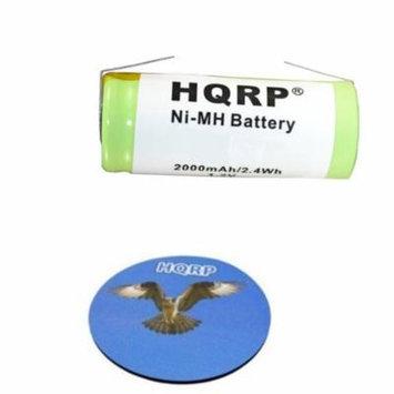 HQRP Battery for Philips Sonicare HX7351 HX7361 HX7500 HX5700 HX1525 HX1520 HX2520 HX9552 HX9500 HX9882 E7000 E9000 E9500 Toothbrush Repair + HQRP Coaster