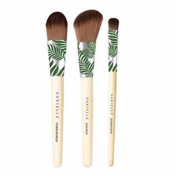 Danielle Creations Bamboo Palm Three Piece Brush Set, Green