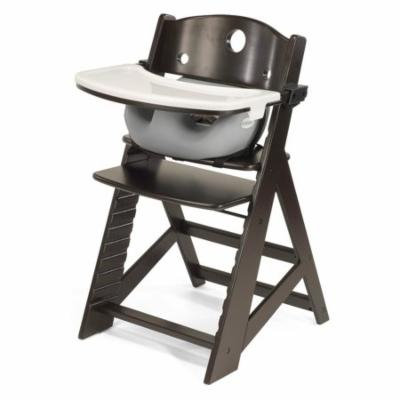Keekaroo Height Right High Chair Espresso with Black Infant Insert and Tray
