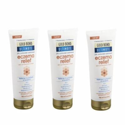 Gold Bond Ultimate Eczema Relief Skin Protectant Cream - 8 oz (Pack of 3)