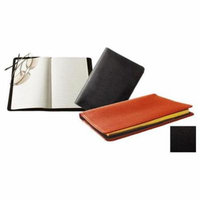 Raika TN 120 BLK Lined Journal with 16-Page Map - Black