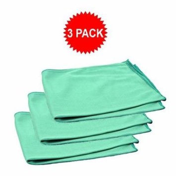 Real Clean 16x16 Premium Microfiber Green Window Glass Cleaning Towel Cloths for Home Auto Office Electronics Streak Free and No Lint Left Behind