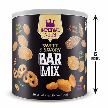 Imperial Nuts Sweet & Savory Bar Mix - Featuring Smoked Almonds, Pretzels, Toffee Peanuts, Spicy Peanuts, Honey Roasted Peanuts, - Delicious tasty snack for any occasion! [Sweet & Savory]