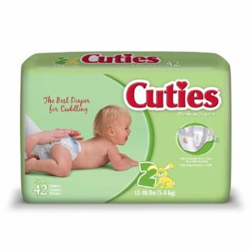 Cuties Baby Diaper Size 2 Disposable Tab Closure Heavy Absorbency Pack of 168