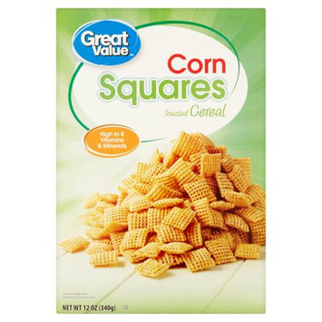 Great Value Corn Squares Toasted Cereal
