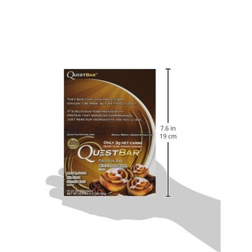 Quest Nutrition Protein Bars, Cinnamon Roll, 24 Count