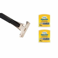 Shave Classic Single Edge Razor Handle with Schick Injector Refill Blades 7 Ct. (Pack of 2)